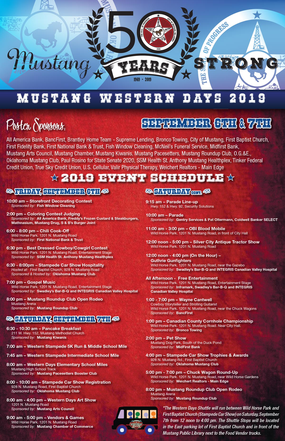 Western Days: September 6th – 7th, 2019 – Western Days Festival in
